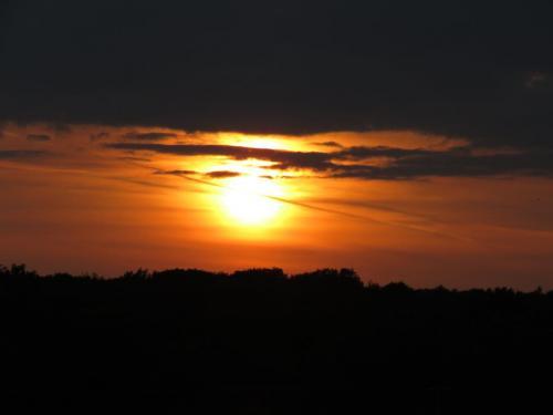 A dark evening sunset